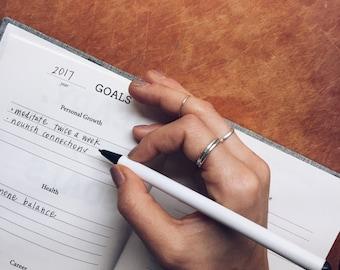 Goal Setting Workbook | Goals Journal | Goals Planner | Self Help Workbook | Anxiety Journal | Year Planner | Finding Balance Journal
