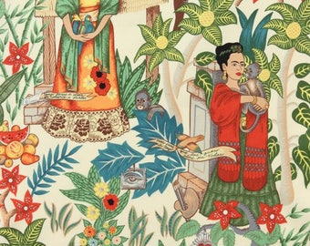 Frida Garden Nature Alexander Henry fabric patchwork cotton fabric fabric for dress Frida Kahlo Mexican fabric design fabric