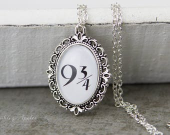 9 3/4 necklace / quote, message, minimalist,