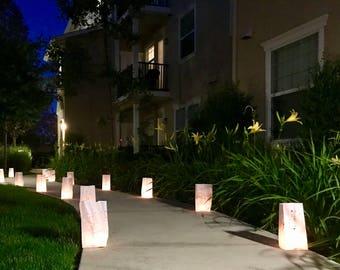 Luminaries, Candle Light, CandleLight, Lighting, Outdoor lighting, Wedding, Night Wedding,Night Reception,Walkway candle lighting, Paper bag