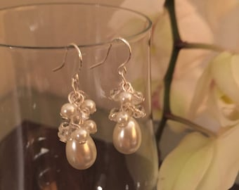 Pearl Earrings- Wedding Jewelry- White Pearl Earrings- Gift Idea