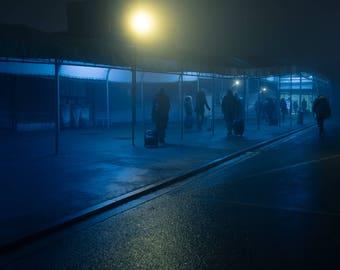 "night # 15-20 x 30 cm. Series ""at rest"""