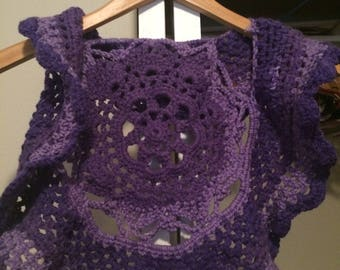 Crochet Girls Vest