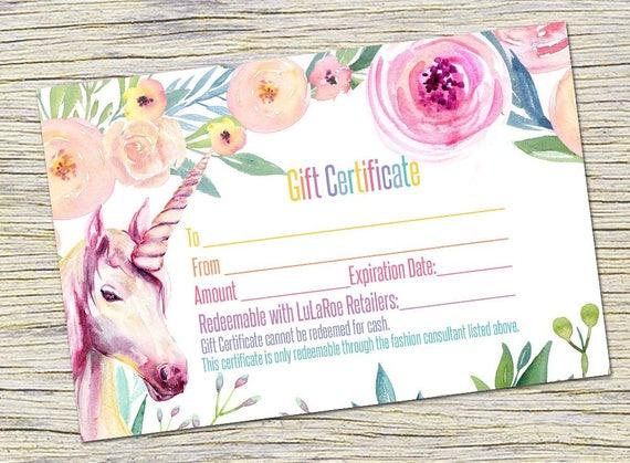 Unicorn Gift Certificate Surprise gift Certificate LipSense