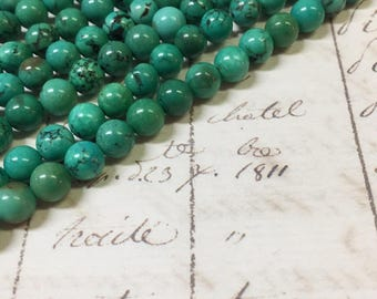 AA quality, Magnesite Beads, Green Beads, Round, 8mm, Full strand,