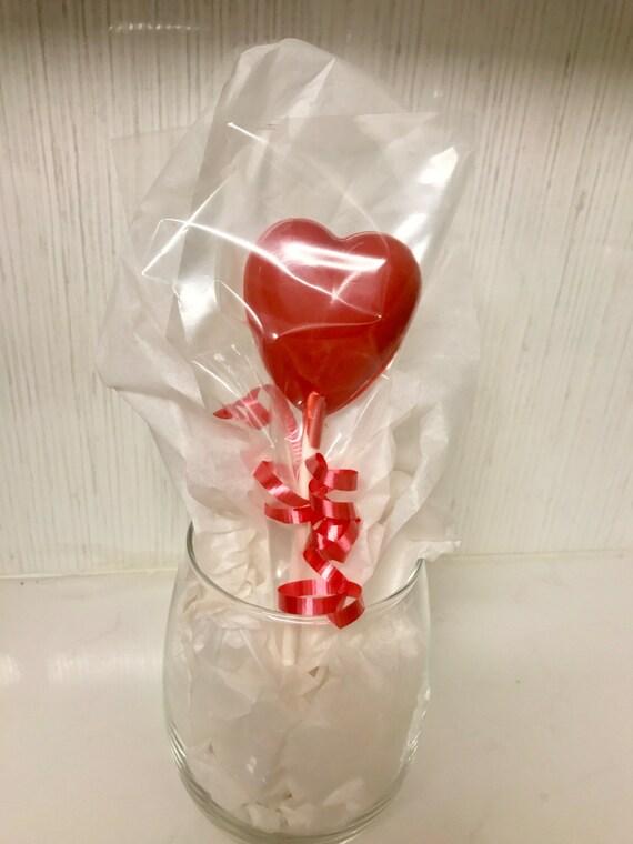 Lollipop Chocolate Heart