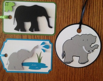 Crafty Tags by Kristin 3D Layered Elephant Gift Tag Assortment #1 Pack of 3