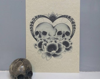 Conjoined Skull Heart