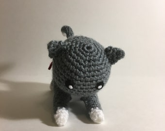 Playful Kitty Crochet Amigurumi Plushie
