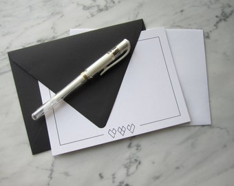 Modern Hearts Notecard 2.0 - Set of 5 Cards with Envelopes