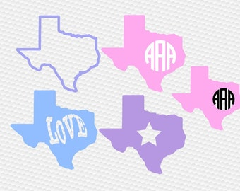 Texas svg, Southern svg, Texas monogram svg, Love svg, Home svg, SVG Files, Cricut, Cameo, Cut file, Files, Clipart, Svg, DXF, Png, Pdf, Eps