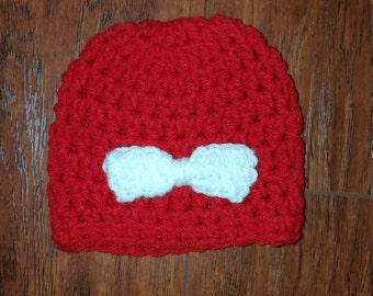 Crochet Baby Hat w/ Bow