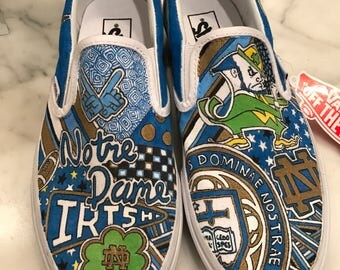 Custom Notre Dame Sneakers