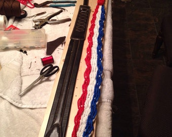 Standard strap for your Axe in Patriotic red white and blue