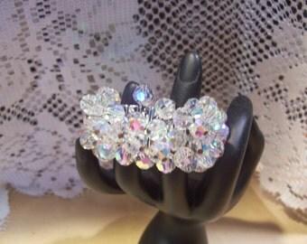 Aurora Borealis Crystal Expansion Cha Cha Bracelet