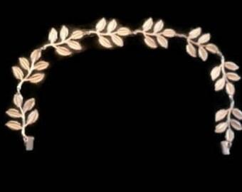 Large Leaves, Rose Gold Leaf Crown - Bridal or Special Occasion Headband, Rose Gold Leaf Headband, halo, crown, Hair piece