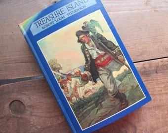 Treasure Island  Robert Louis Stevenson Vintage Blue Ribbon Book