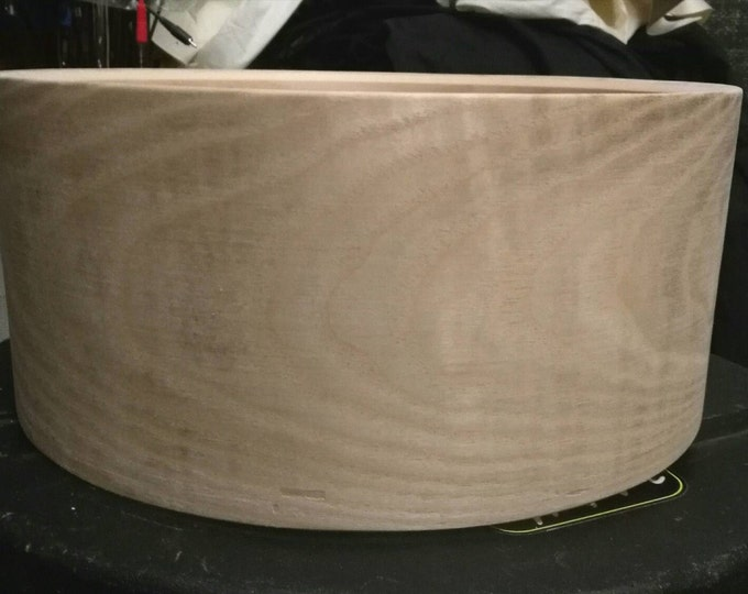 14x6.5 solid steambent curly sassafras snare drum shell by erie drums
