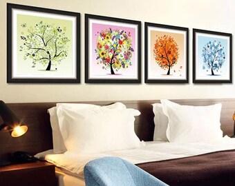 5D Rhinestone Painting-four seasons