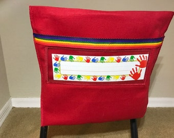Chair Pockets for Classroom Chairs