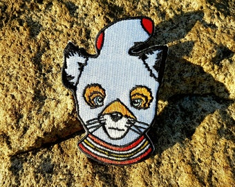 Ash Fox Embroidered Iron On Patch, Wes Anderson Gifts, Fantastic Mr Fox Patch, Tube Sock, Cuss Yeah