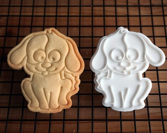 Sitting Dog Cookie Cutter and Stamp