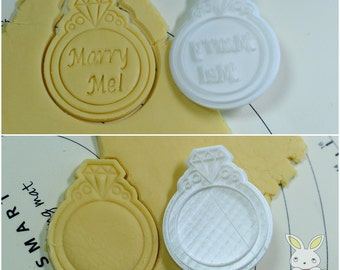 Propose Ring Cookie Cutter and Stamp