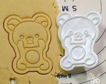 Cute Rirakuma Cookie Cutter and Stamp