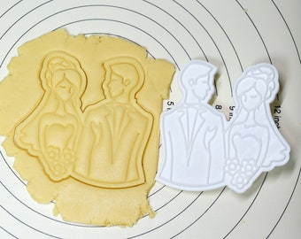 The Bride and Bridegroom Cookie Cutter and Stamp