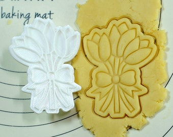 Tulip Cookie Cutter and Stamp