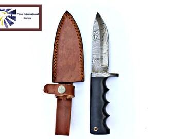 DAMASCUS KNIFE/ Titan/ Micarta Handel  TD-405