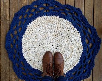 rag rug crochet doily rug crochet rag rug rag rug bedroom rug - Rag Rugs
