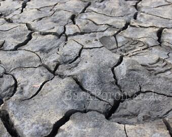 Alaska Mud Flat; mudflats; Anchorage; Dried Mud; Footprints; dirt; Travel; zoom; cracked; brown; bathroom; bedroom; science; wall art