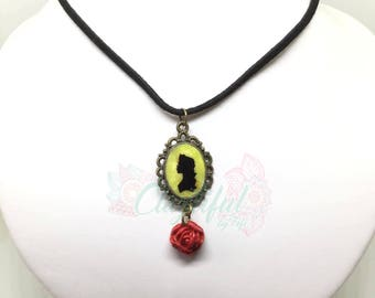 Beauty and the Beast Cameo Necklace