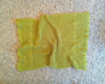 Lovely knitted baby blanket