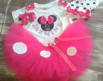 Minnie mouse legwarmer outfit