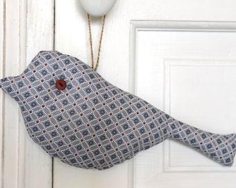 Decoration door hanger / hanging decoration - bird - door, window - gift idea - door cushion