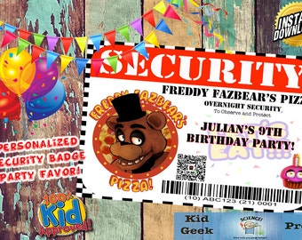 Five Nights at Freddy's FNAF Personalized Security Badge #2