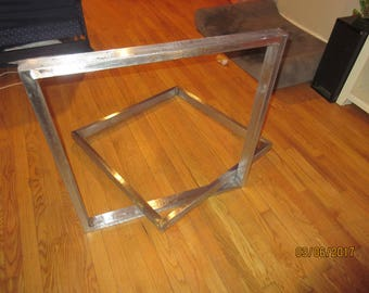 Table Legs,Stainless Steel Brushed,Custom Sizes Available.