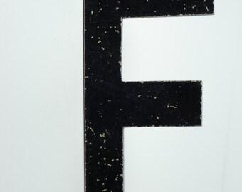 """Vintage Metal Sign Letter Uppercase """"F"""""""