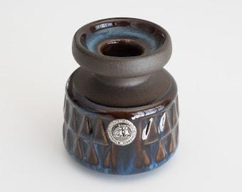 """Original Danish Søholm Stentøj """"Blue Series"""" Candle Holder/Small Vase by Einar Johansen/Maria Philippi"""