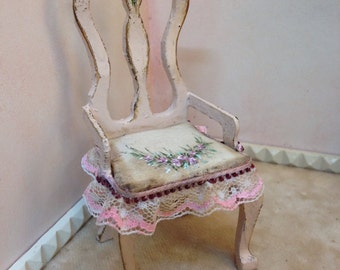 Chair kitchen pink. Chair, hand painted furniture.