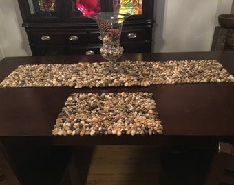 Natural stone Table Runner W/ Table Mat