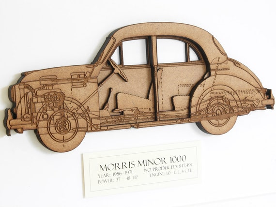Morris minor blueprint car art morris minor blueprint art like this item malvernweather