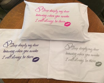 pillow cases that say i love forever
