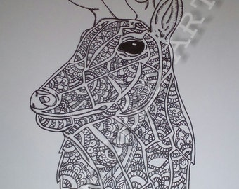 Patterned stag *print*