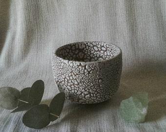 Handmade ceramic tea bowl, chawan