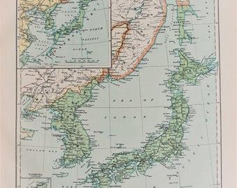 Taiwan Formosa Map Etsy - Japan map 1920