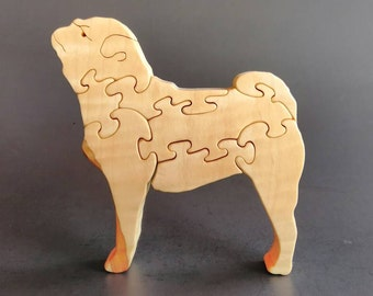 Duke the Pug wood puzzle