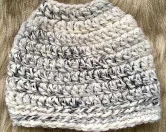 Top Knot Hat - Marble